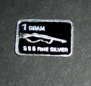Details About Gun Rifle Hunting Hunter Target Silver Gram Bullion Birthday Gift Card Caliber 2