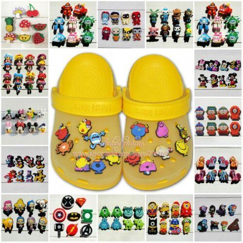 50-100PCS Cartoon PVC jibbitz Shoe Charms Accessoires Fit pour CHAUSSURES /& Bracelets
