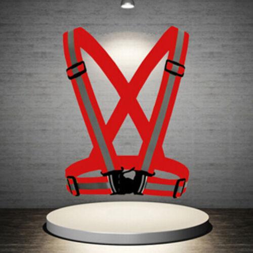 High visibility outdoors safety vest reflective belt safety vest fit for run TPI