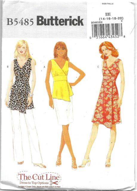 Butterick Sewing Pattern B5555 Misses Boho TOP TUNIC DRESS /& BELT Size 8-14 NEW