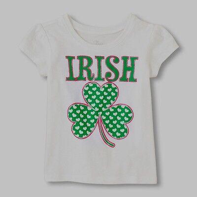 Irish Clover Love St Patricks Day Short-Sleeve T Shirt Baby Girl