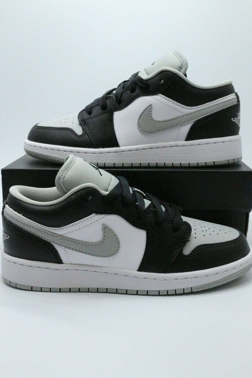 Nike Air Jordan Retro 1 Low Light Smoke Grey Black 553558-039 Sz ...