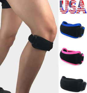 Adjustable-Knee-Support-Patella-Strap-Band-Tendon-Brace-Relieve-Pain-Sports-SFC
