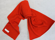 H206  NWT Gorgeous Bright Red Color Knitted 100% Pashmina Handmade In Nepal
