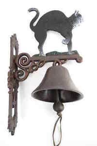 fonte chat 2 cloche métal Cloche de navire Décoration de jardin ...