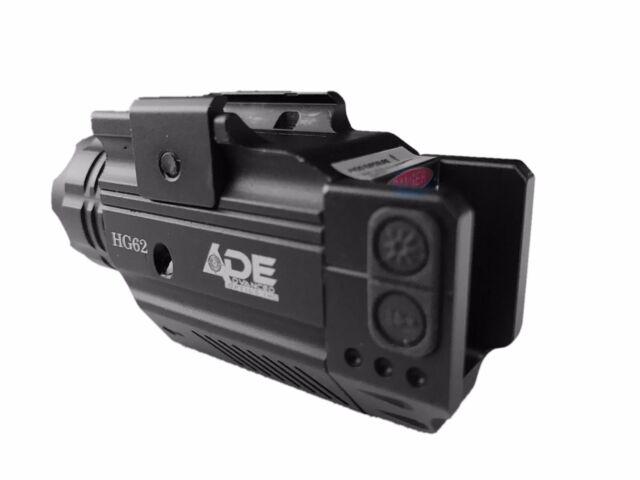 Pistol Strobe Green Laser+Flashlight for Ruger 9 e, sr9, sr22, walther ccp pk380