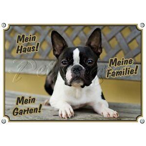 Panneau d'avertissement de chien - Boston Terrier 1 A Quality