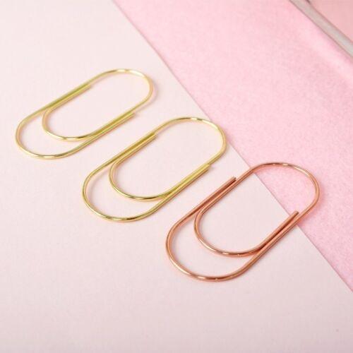 5pcs 50mm Large Size Metal Paper Clips Kawaii Gold Rose Gold Binder Clips Hot