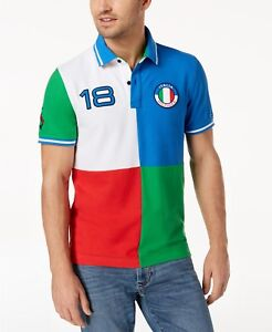 08f11a09e23d5e Tommy Hilfiger Men s Custom Fit Italian Toreador Italy Country Polo ...