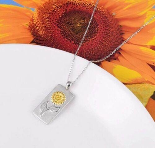 Daisy Sun Flower Pendant silver Necklace Birthday Christmas Mothers day mum 687