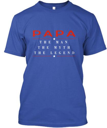 Papa The Legend Man Myth Standard Unisex T-shirt