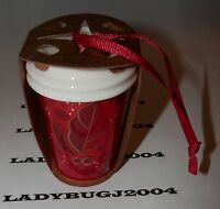 Starbucks 2013 Red Cup Holly Design Ornament -new -last One -ships Free In A Box