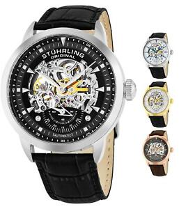 Stuhrling Men's 133 Self Wind Automatic Skeleton Executive Dress Luxury Watch