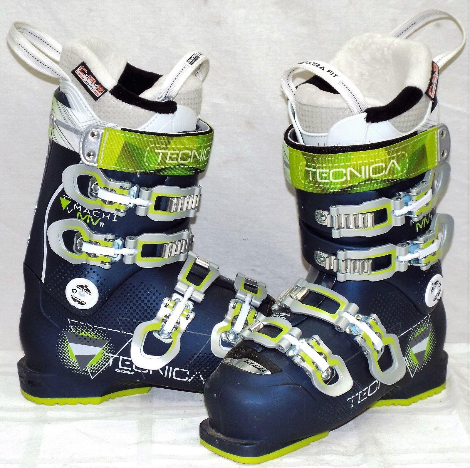 16-17 Tecnica Mach 1 95 MV Used Women's Ski Boots Size 23.5