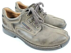Ecco-Light-Mens-Size-43-US-9-5-Lace-Up-Casual-Oxford-Shoes-Brown-Leather
