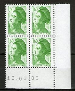 TIMBRE-N-2219-NEUF-XX-LUXE-COIN-DATE-DU-13-1-83-LIBERTE-DE-GANDON