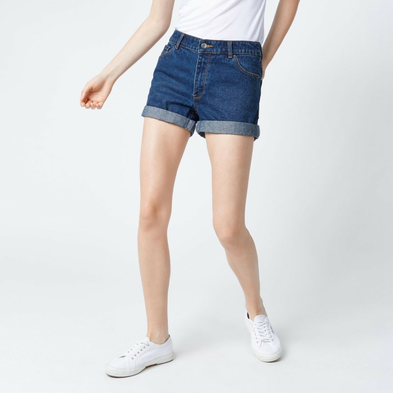 Warehouse Turn Up Shorts bluee Size rrp  DH091 EE 01
