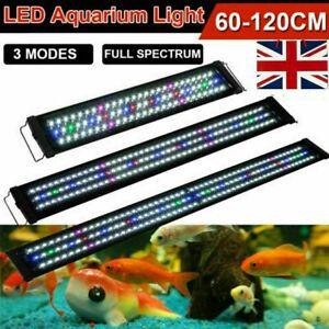 Aquarium Fish Tank Light Led Over Head Lamp Adjustable Rgb Smd Full Spectrum Uk Ebay