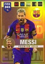 Limited Edition MESSI Premium GOLD Panini Adrenalyn XL FIFA 365 2017