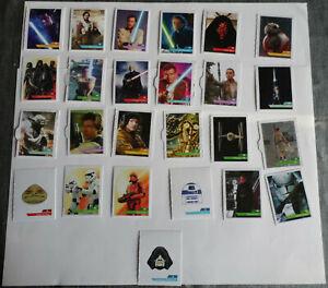 lot-N-5-de-25-Cartes-vignettes-Star-Wars-Leclerc-2019-stickers-autocollants