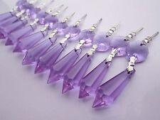 "10 Purple Chandelier Glass Crystal Lamp Prisms Parts Hanging Drops Pendants1.49"""