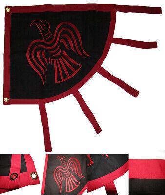 2x3 Embroidered Viking Raven Red Black Premium 100/% Cotton Flag 2/'x3/' Grommets
