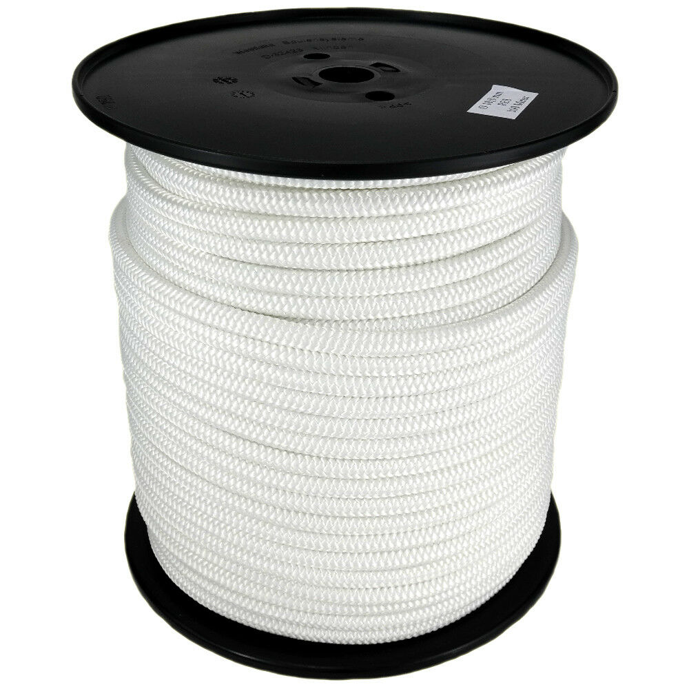 Polyester Rope PES 3mm 500m White Braided