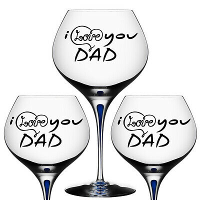 Dad vinyl decal walls etc For wine glasses crafts
