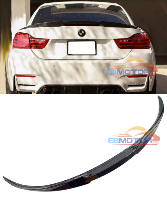 Real Carbon Fiber Trunk Lip Spoiler For BMW F33 F83 M4