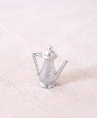 Coffee Pot Silver 1//12 scale dollhouse cast metal miniature tool ISL0457