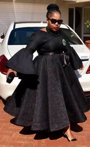 Details about Black African Plus Size Evening Dresses Ankle Length Lace  Formal Party Prom Gown