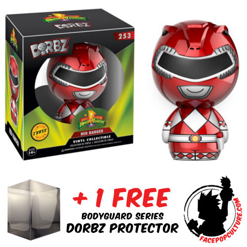 FUNKO DORBZ POWER RANGERS ROT RANGER CHASE PIECE + FREE DORBZ PROTECTOR