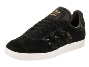 670050d60 ADIDAS GAZELLE ORIGINALS WOMEN s CASUAL US SIZE 6.5 BLACK - GOLD ...