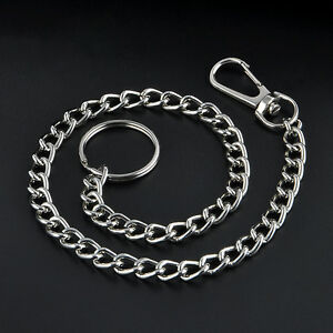 New-38cm-Extra-Long-Wallet-Belt-Ring-Clip-Chain-Hipster-Key-Keyring-Keychain