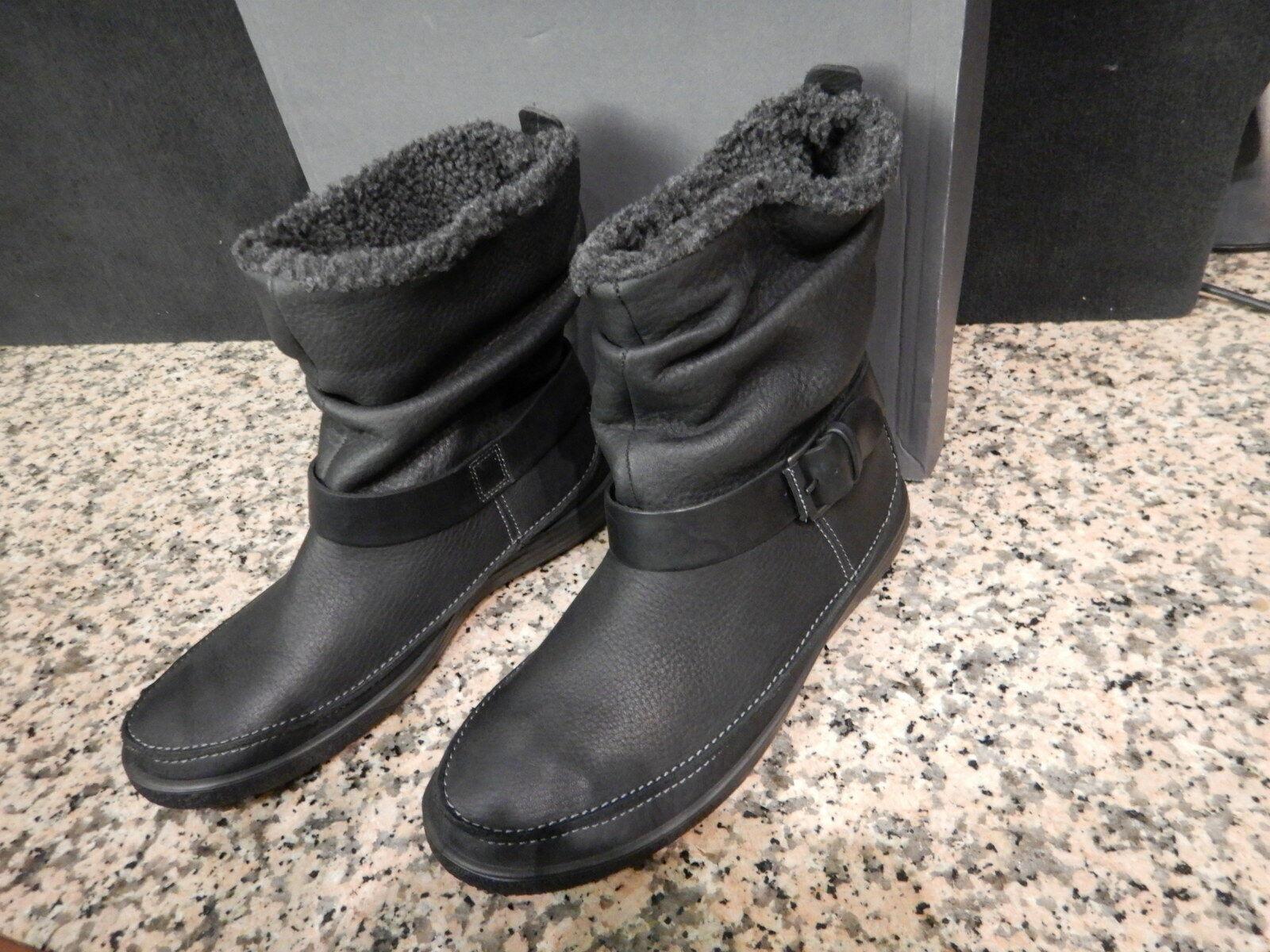 Ecco Damen-Winterstiefel CHASE II Leder schwarz Gr. 37
