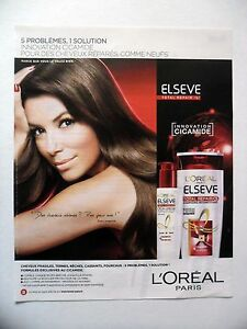 Publicite Advertising L Oreal Elseve Total Repair 2015 Eva