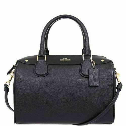 Coach Mini Bennett Satchel Crossgrain Leather Handbag Black - F57521 for  sale online | eBay