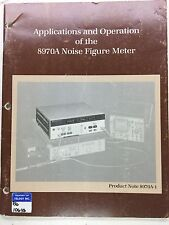HP 8970A Noise Figure Meter Applications & Operation Manual P/N 5952-8254