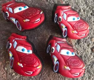 LOT OF 4 Disney Pixar Cars Jibbitz