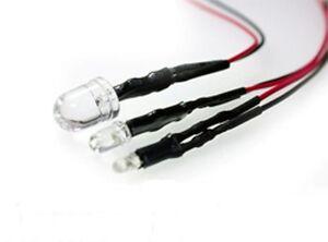 Pre-cablato-3mm-Led-con-Resistori-Vari-Colori-5v-6v-9v-12v-Confezione-da-5