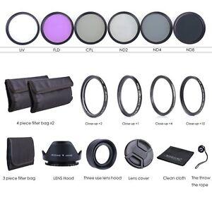 Objectif-49-mm-Kit-De-Filtre-UV-circulaire-polarisant-FLD-densite-neutre-2-4-8-Macro-Close-Up