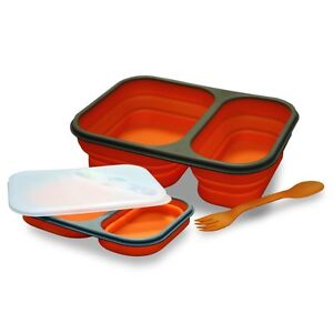 Lunch-Box-Bento-Double-Compartment-Silicone-Retractable