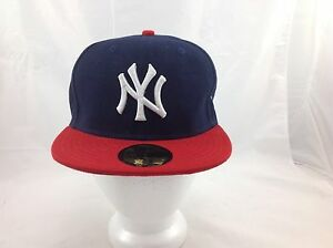 3e803410c72ea New Era 59Fifty NY New York Yankees MLB Fitted Cap hat Black Blue 7 ...