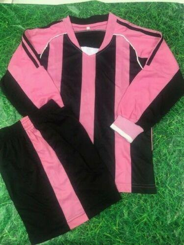 XXXS 8//10 Year olds. Milan TEAM KIT 12 x Shirt /& Shorts Set BLACK /& PINK