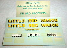 (1) 1960  Famous Original Little Red Wagon Decal sheet by Du-Bro Products Inc.