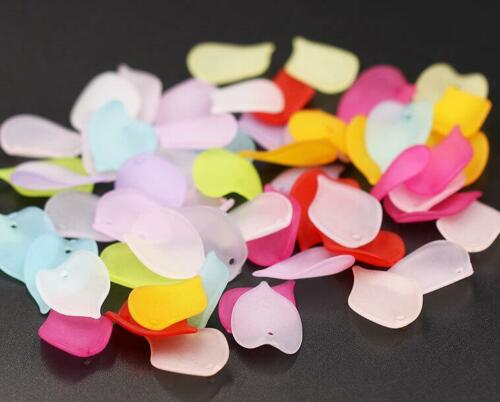 100pcs DIY Jewelry Accessories Acrylic frosted petals For Jewelry material 19mm