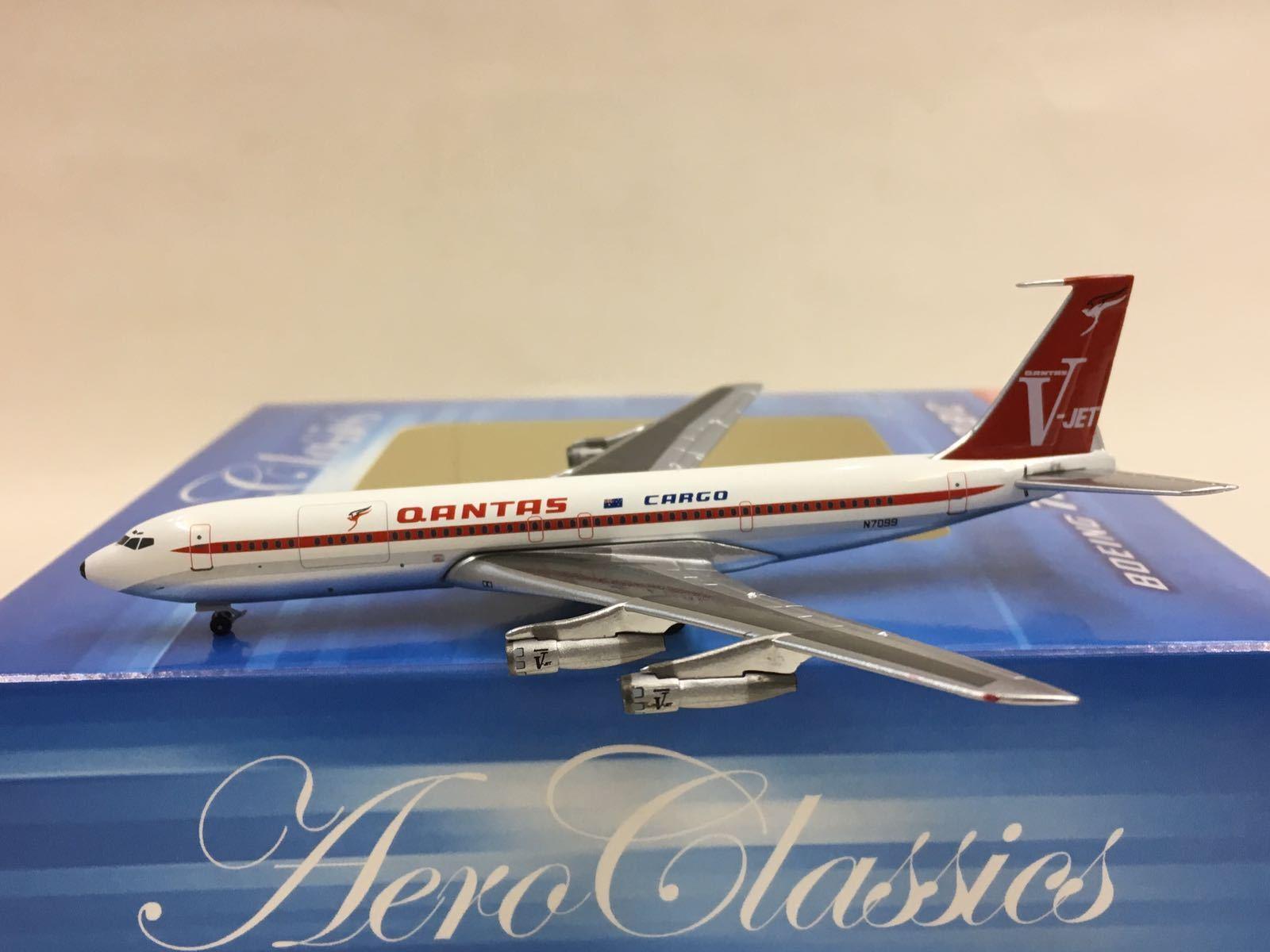 forma única Aeroclassics 1 400 Qantas Cochego B707-300C N7099 N7099 N7099 1970 Colors  con 60% de descuento