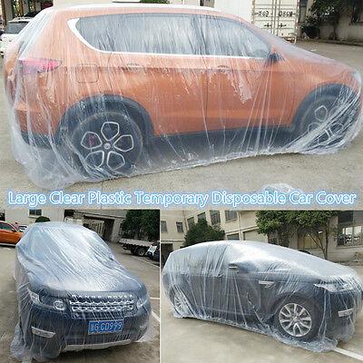 Universal Car SUV Body Rain Dust Snow Garage Cover Plastic Temporary Disposable