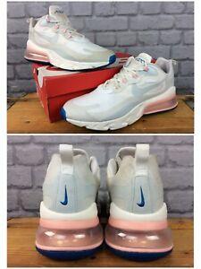 Nike-Da-Uomo-UK-11-EU-46-AIR-MAX-270-reagire-FANTASMA-Corallo-Bianco-Scarpe-Da-Ginnastica-Rrp-140