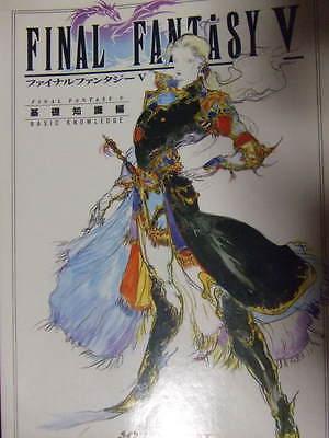 Final Fantasy 5 Basic Knowledge book art snes Yoshitaka Amano guide V